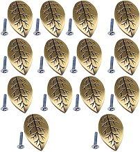 14-Pack Zinc Alloy Leaf Shape Decorative Cabinet