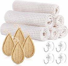 14 Piece Bamboo Organic Cotton Unpaper Towels Set,