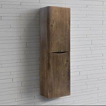 1400mm Left Hand Grey Oak Effect Tall Cupboard