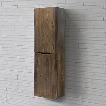 1400mm Right Hand Grey Oak Effect Tall Cupboard