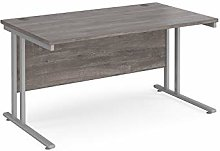 1400mm Straight Office Desk Grey Oak