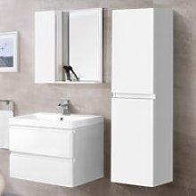 1400mm Tall Bathroom Storage Cabinet Cupboard Wall