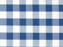 140x140cm SQUARE PVC/VINYL TABLECLOTH - BLUE