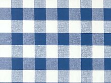 140x140cm SQUARE PVC/VINYL TABLECLOTH - BLUE