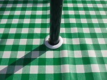 140x140cm SQUARE PVC/VINYL TABLECLOTH - GREEN