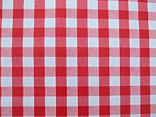 140x140cm SQUARE PVC/VINYL TABLECLOTH - RED
