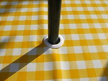 140x200CM OVAL PVC/VINYL TABLECLOTH - YELLOW