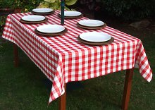 140x200cm RECTANGLE PVC/VINYL TABLECLOTH - RED