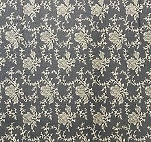 140X210cm OVAL VINTAGE GREY WITH CREAM FLORAL