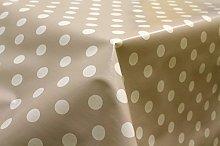 140x250cm (2.5 METRES OBLONG) Latte Polka Dots