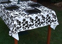 140x300CM RECTANGLE PVC/VINYL TABLECLOTH - WHITE