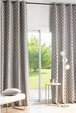 140x300cm single eyelet curtain with grey graphic