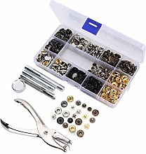 146 PCS Copper Button Installation Set Tool