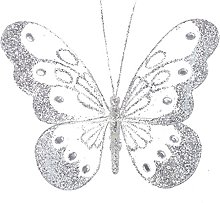 14cm Butterfly With Diamante Detail And Clip On
