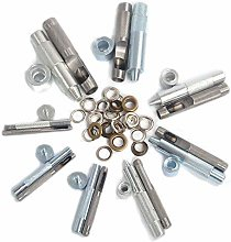 14mm Eyelet Punch Die Tool Set for Leather Crafts