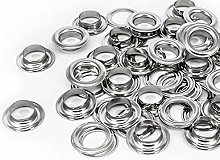 14mm Silver Long Barrell Eyelets & Washers
