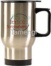 14oz Ceramic Travel Mug ,Its 5 O'clock