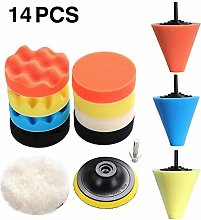 14pcs Car Polishing Kit Buffing Pad