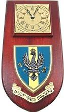 14th / 20th Kings Royal Hussars Wall / Mess Clock