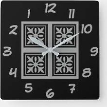 15 Inch Silent Non-Ticking Wall Clock, Battery