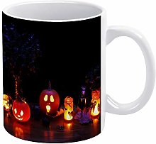 15 oz Funny Coffee Mug, Egg Yellow Pumpkin Coffee