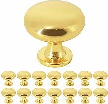 15 Pack Probrico Solid Brass Cabinet Door Knob