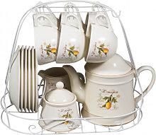 15 pcs decorated porcelain Breakfast set LIMONI