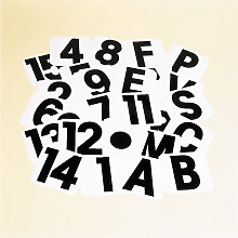 15 Self-Adhesive Label (One Size) (Black/White) -