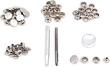 15 Set Snap Fastener Kit Button Tool Press Studs