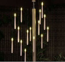 15 x Magic Candle Flame Chandelier String Parasol