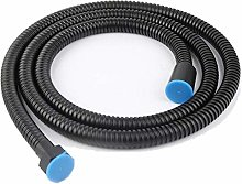 150 cm Black Shower Hose Stainless Steel Shower