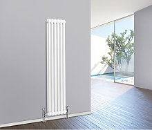 1500 x 290 mm Traditional White Vertical Cast Iron