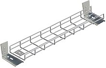 1500mm Long Under Desk Basket Tray w/Brackets &