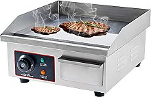 1500W Commercial Countertop Manual Griddle, Flat