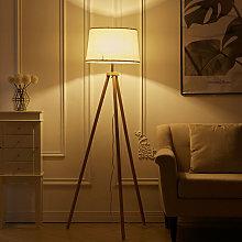 150cm Wood Tripod Floor Lamp Lighting E27 Bulb