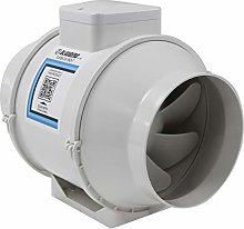 150mm in Line Bathroom Extractor Fan with Run on