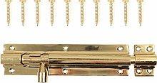 150mm Long Polished Brass Slide Door Bolt -