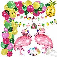 151Pcs Tropical Balloons Garland Kit Hawaiian