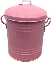 15L 15 Litre Small Metal Rubbish Dustbin / Mini