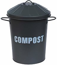 15L 15 Litre Vintage Style Galvanised Compost Food