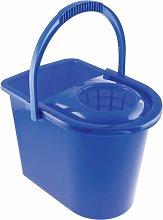 15LTR Plastic Mop Bucket Blue - Cotswold