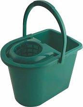 15LTR Plastic Mop Bucket Green - Cotswold