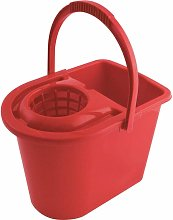 15LTR Plastic Mop Bucket Red - Cotswold