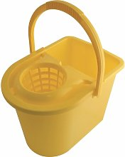 15LTR Plastic Mop Bucket Yellow - Cotswold