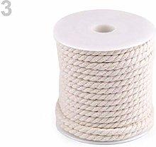 15m Ecru Light Twisted Cotton Cord/Rope Ø5mm,