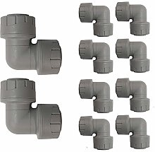 15mm Push fit Equal Elbow Plastic Plumbing Fitting