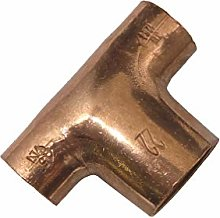 15mm x 15mm x 22mm Centre Reducing Copper Tee End