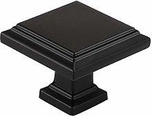 15Pcs goldenwarm Drawer Knobs Black Square Cabinet