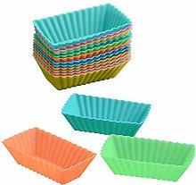 15pcs Rectangular Cake Mold Coloured Silicone
