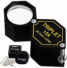 15x Jewelry Loupe Magnifier 20.5mm Triplet Lens